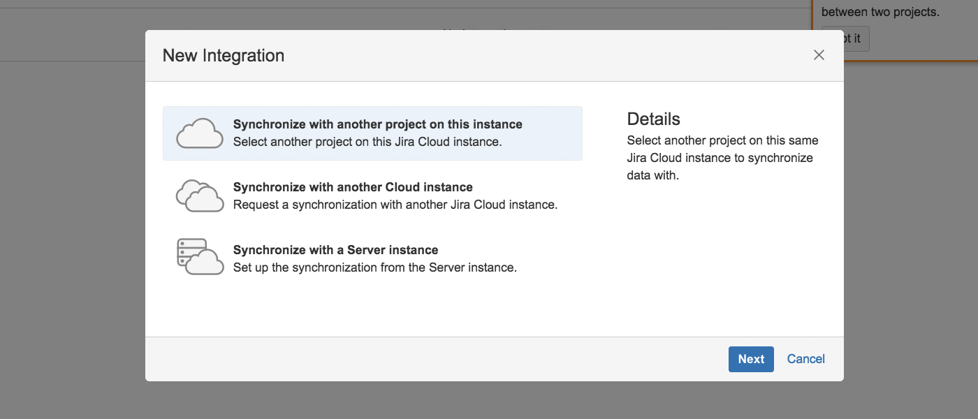 sync jira backbone app cloud configuration screen