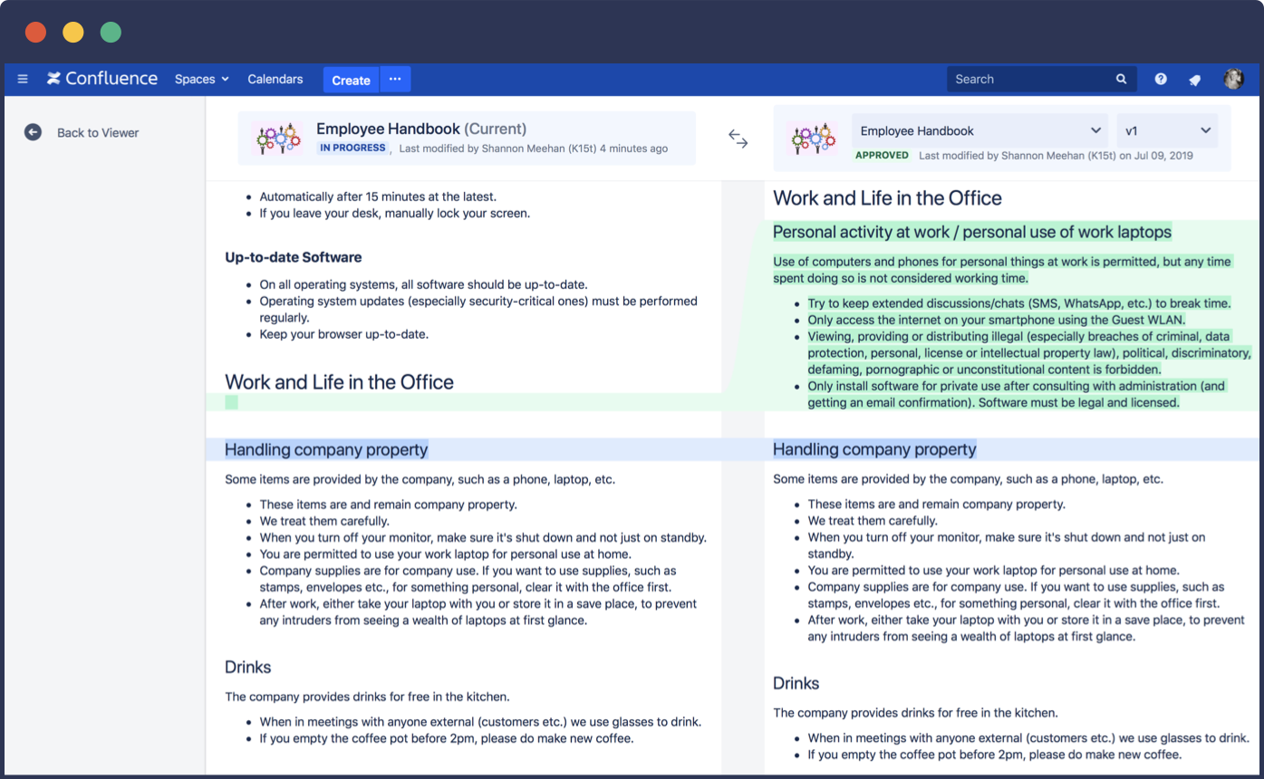 Manage Versions of Multi-Page Documents in Confluence | K15t