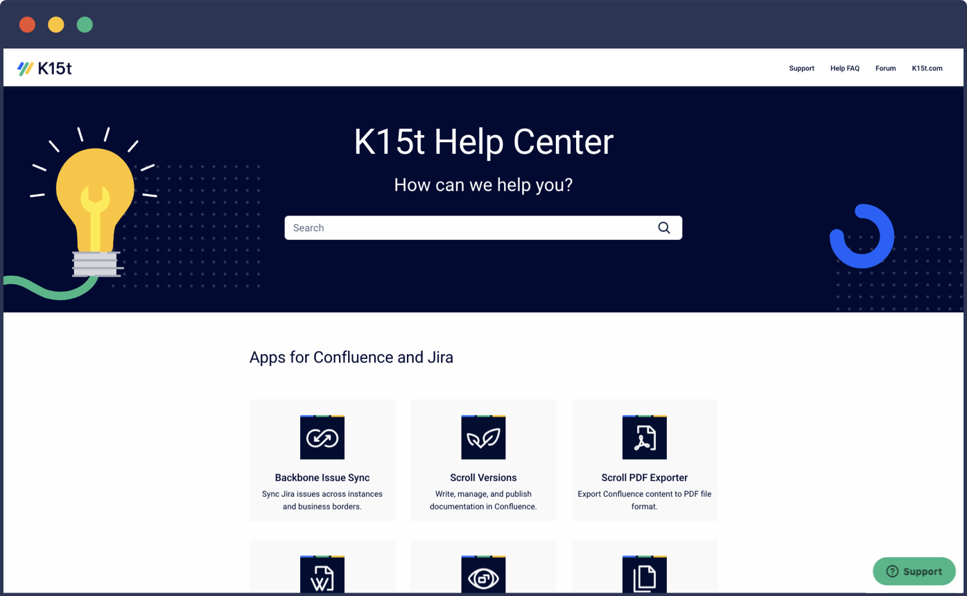Confluence Help Center Built with Scroll Viewport